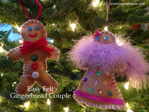 Easy Felt Gingerbread Couple